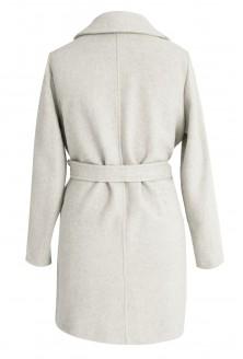 Kremowy płaszcz wiązany ARLES