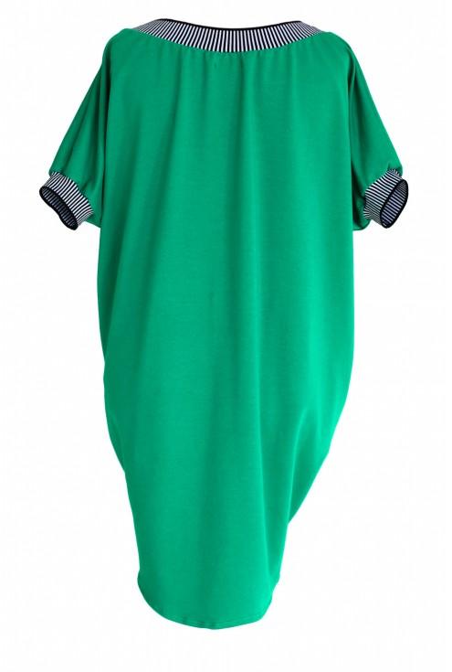 Sukienka ze ściągaczem WHITNEY - kolor zielony