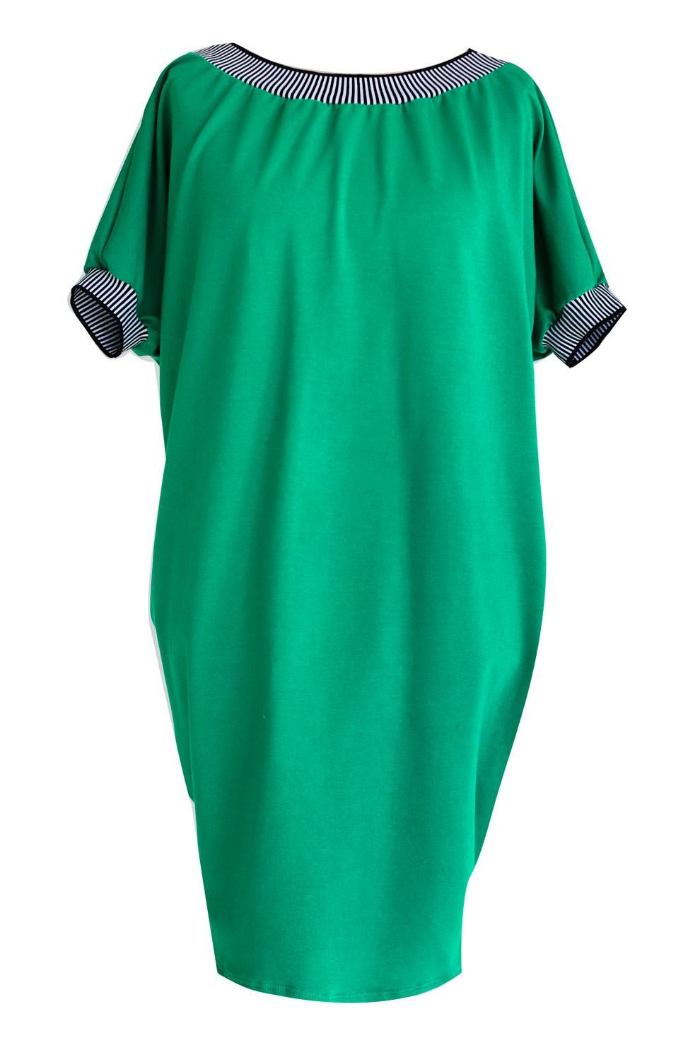 48adcac9 Sukienka ze ściągaczem WHITNEY - kolor zielony - PLUS SIZE XL-ka