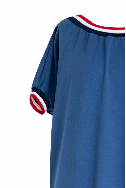 Sukienka ze ściągaczem WHITNEY - kolor jeansowy