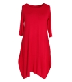 Czerwona dzianinowa sukienka HANNAH