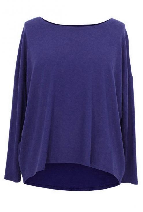 Kobaltowa dzianinowa bluzka oversize ERIN 2
