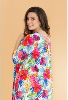 Kolorowa sukienka w kwiaty - MARIGOLD