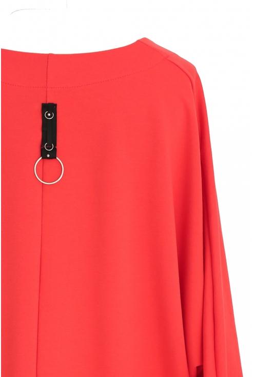 Czerwona sukienka / tunika oversize ROSEMARY
