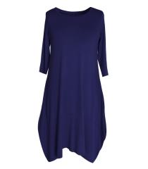 Granatowa dzianinowa sukienka HANNAH