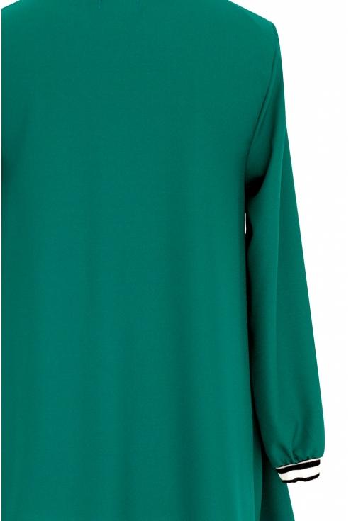 Zielona tunika ze ściągaczem TOSCA