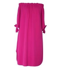 Amarantowa sukienka hiszpanka - MARITA
