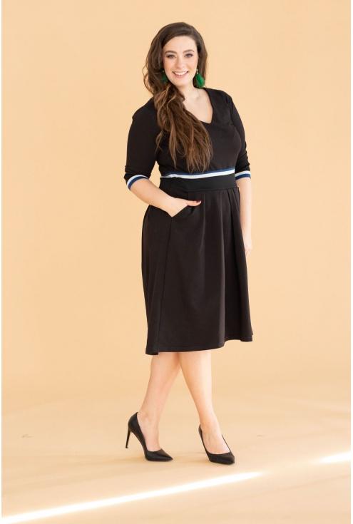 Czarna sukienka rozkloszowana EMMA