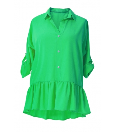 Jasnozielona bluzka / koszula z falbanką SABRINA