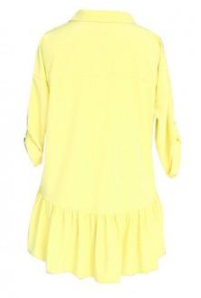 Limonkowa bluzka / koszula z falbanką SABRINA