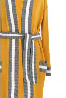 Miodowy długi wiązany sweter SUSANA