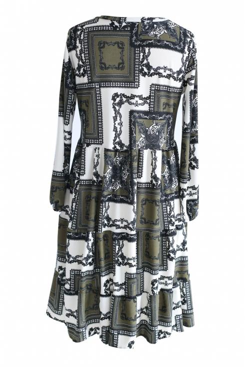 Rozkloszowana sukienka w stylu boho - RYAN