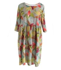 Sukienka w kolorowe liście BELLA