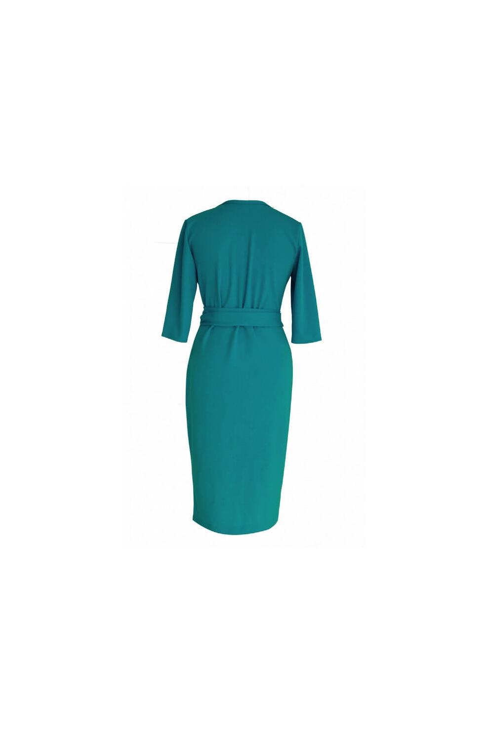 1b649e52 Morska sukienka z wiązaniem - VENEZIA - Sklep PLUS SIZE XL-ka