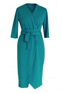Zielona sukienka z wiązaniem - VENEZIA
