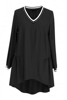 Czarna tunika ze ściągaczem TOSCA