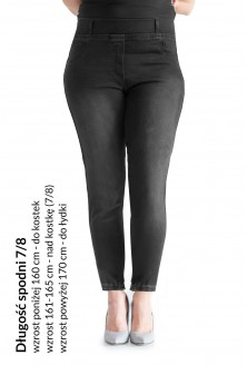 jeansy 7/8 plus size
