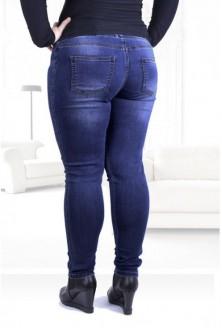 Ciemne spodnie jeansowe na gumkę JUSTINE
