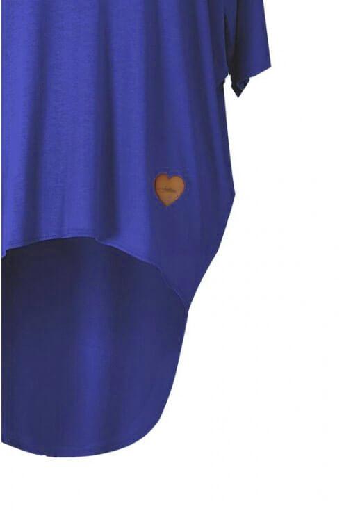 Chabrowa bluzka z dłuższym tyłem NIKI