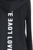 CZARNA dresowa bluza z napisem LOVE
