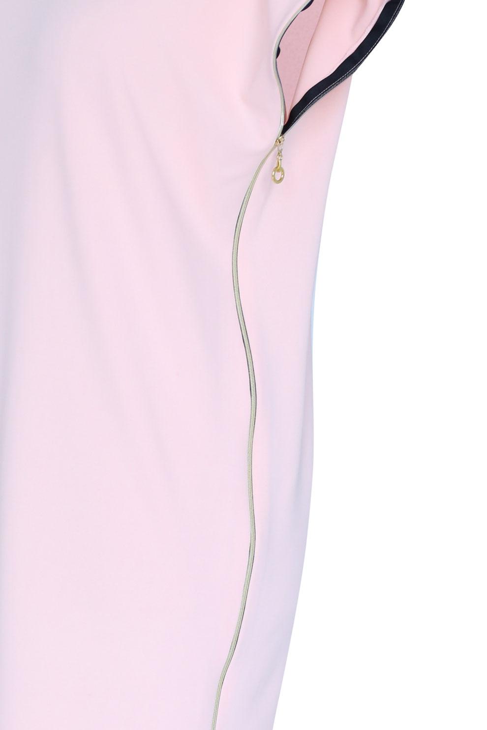 ab77171c Pudrowa sukienka z suwakami EDITH - Sklep plus size XL-ka
