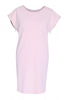 Pudrowa sukienka z suwakami EDITH