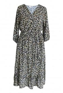 Sukienka Maxi 7/8 w panterkę LAYLA