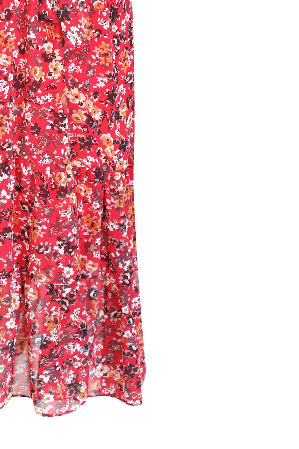 e2c86485a4 Czerwona sukienka Maxi 7 8 w kwiatki L AMOUR