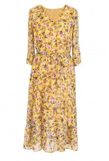 przód żółtej sukienki w kwiatki