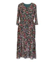 Zielona sukienka Maxi 7/8 w kwiatki L'AMOUR