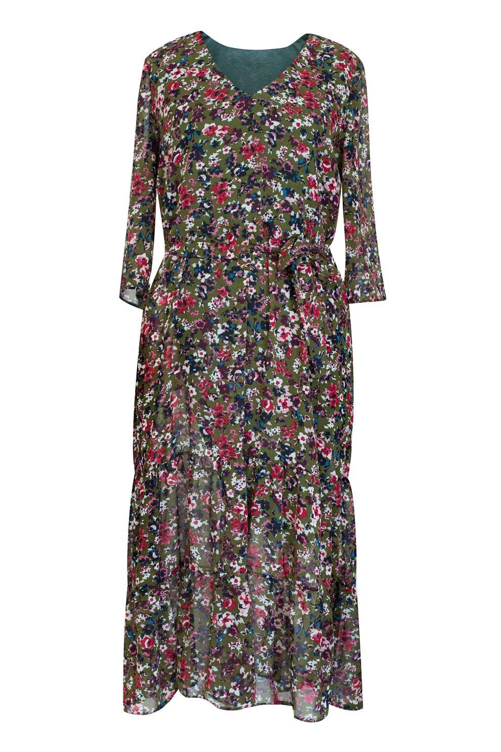 172fea4af5 Zielona sukienka Maxi 7 8 w kwiatki L AMOUR