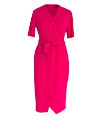 Malinowa sukienka z krótkim rękawem - VENEZIA II