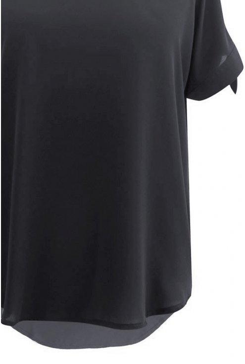 Czarna szyfonowa bluzka LARISS