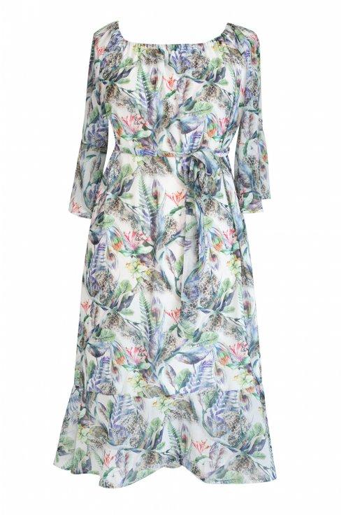 sukienka hiszpanka drobne wzory