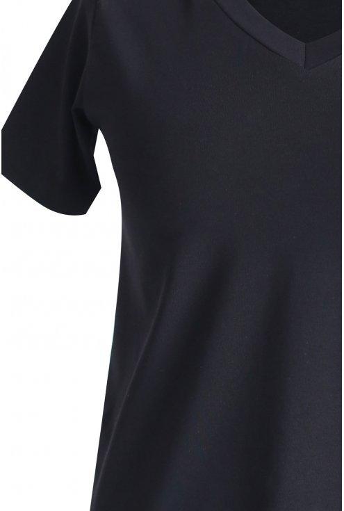 Czarna bluzka z krótkim rękawem SAFARI