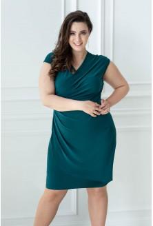 butelkowo zielona sukienka plus size duże rozmiary