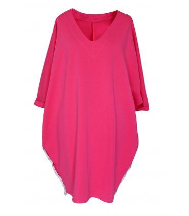 Różowa sukienka / tunika oversize ROSEMARY