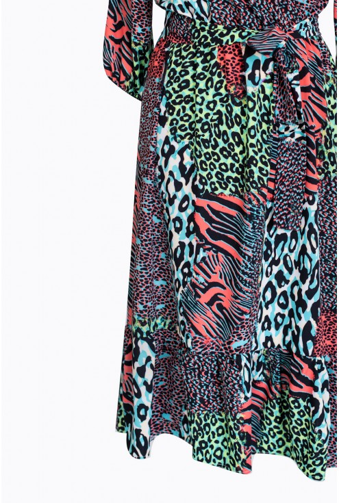 bok sukienki ze zwierzęcym wzorem layla