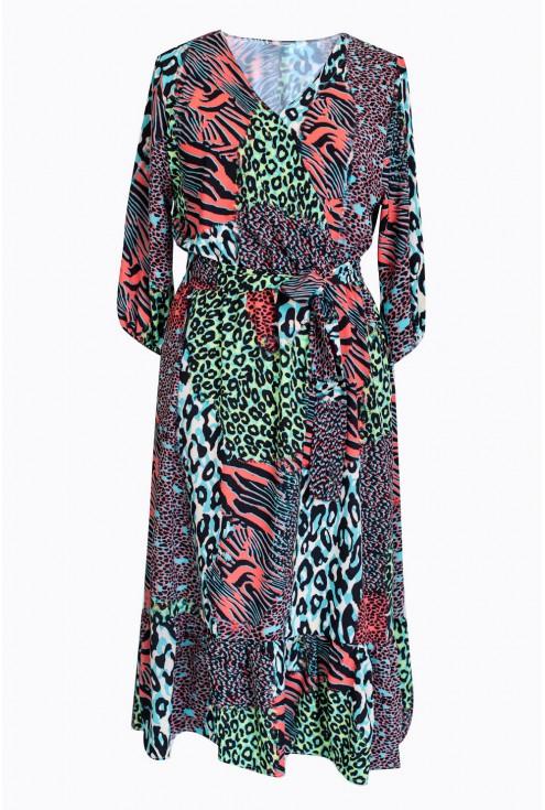 sukienka ze zwierzęcym wzorem lyla