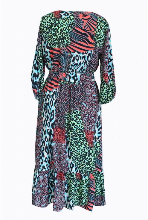 tył sukienki ze zwierzęcym wzorem lyla