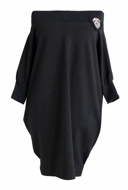 czarna dresowa tunika hiszpanka xxl plus size