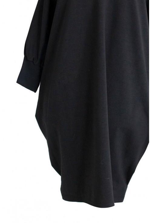 Czarna tunika hiszpanka - SANDRA