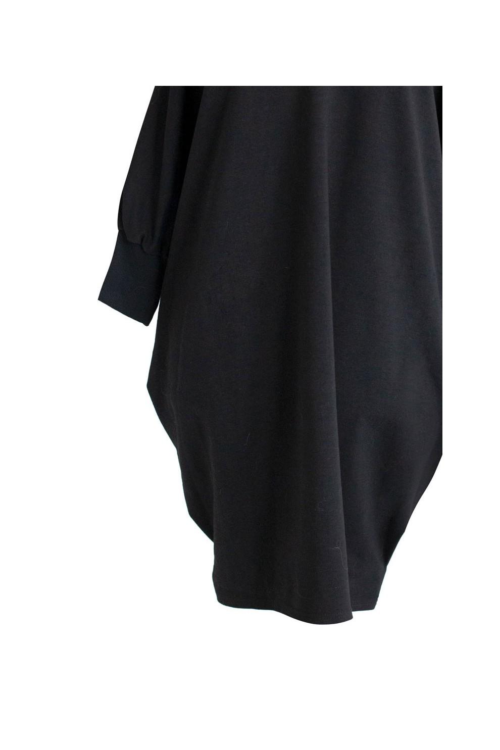 5ac0cfb0db5ccc Czarna tunika hiszpanka - SANDRA - Sklep PLUS SIZE XL-ka