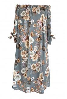 przód sukienki w kwiaty xxl