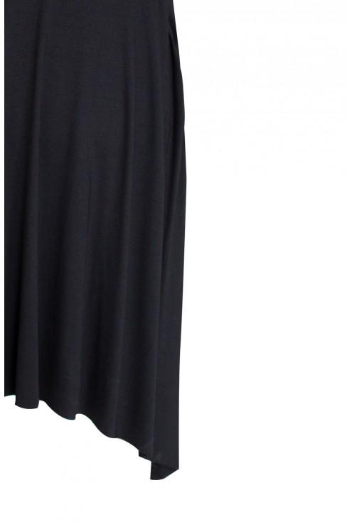 Czarna rozkloszowana sukienka - BASILIA