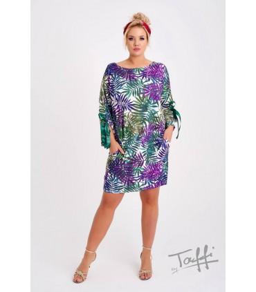 Tunika/Sukienka w liście - SANTI PRINT