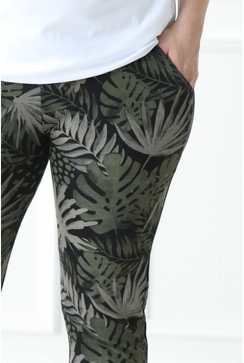 Spodnie dresowe w liście JAMAICA