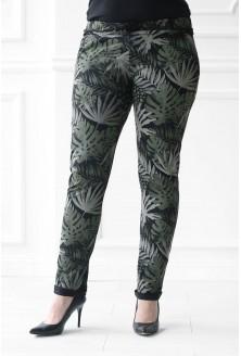 spodnie dresowe plus size w liście jamaica