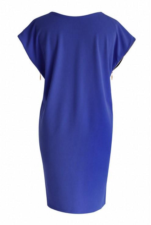 Chabrowa sukienka z suwakami EDITH