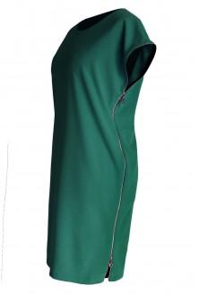 Butelkowa zieleń sukienka z suwakami EDITH